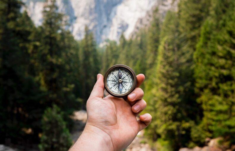 Compass navigation orienteering