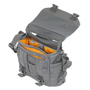 Prepper sholder pack at Australian Preparedness. This Wolf Grey Vanquest Envoy is the smaller of the two. Pack is open.