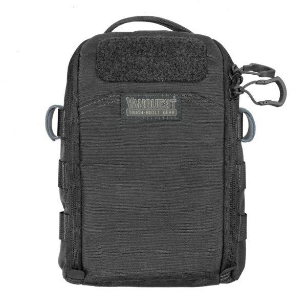 FTIM6X9 Black organiser pouch for prepping. Organiser survival supplies and gear. Black 6x9