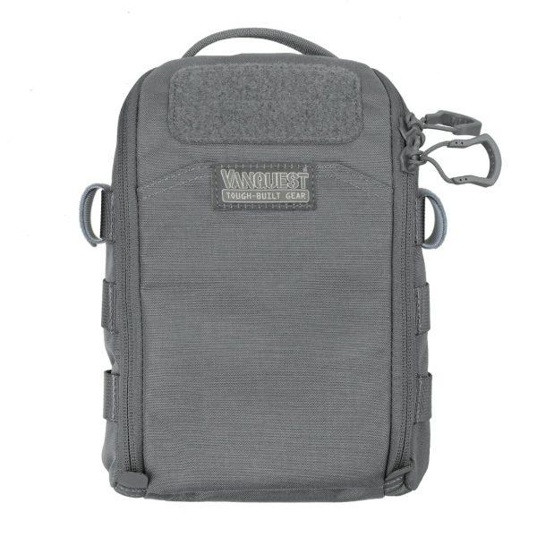 FTIM6X9 Black organiser pouch for prepping. Organiser survival supplies and gear. Wolf Grey 6x9