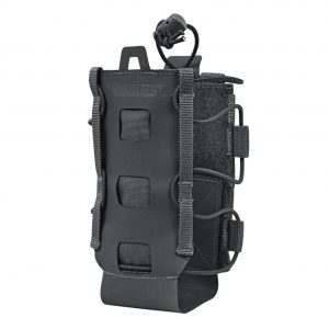 Lightweight water bottle holder that attaches to backpack. The Vanquest HYDRA is expandable for small and large water bottles. Black.